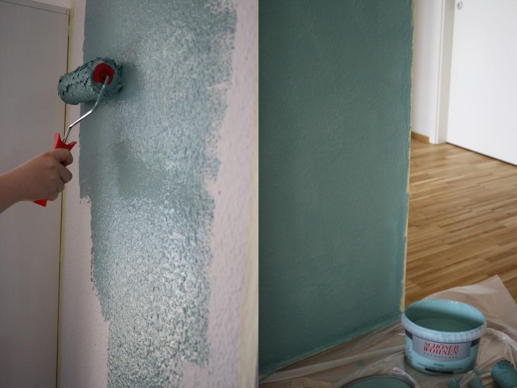 wir brauchen farbe renovierung unseres flurs mit diy werbung kati make it. Black Bedroom Furniture Sets. Home Design Ideas
