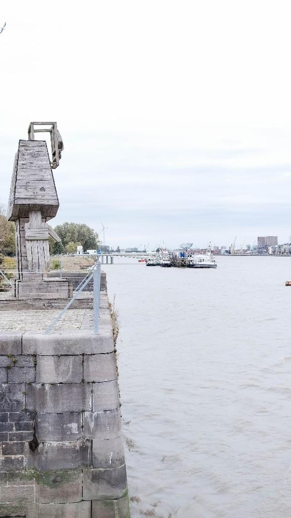 Blick auf die Schelde Antwerpen